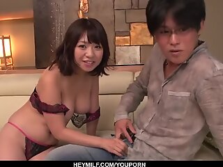 Milf in heats Wakaba Onoue amazing sex in bedroom with son - More at Japanesemamas.com