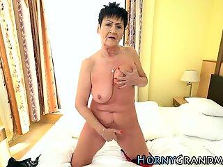 Busty grandma sucking