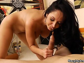 Mrs. Addams having sex with her son's friend