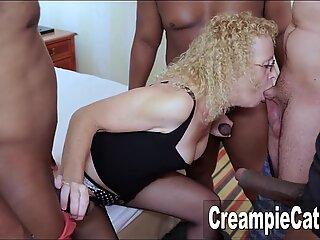 Massive Creampie For MILF