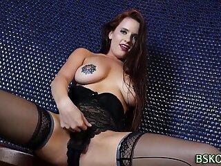 Inked pornstar jizzed