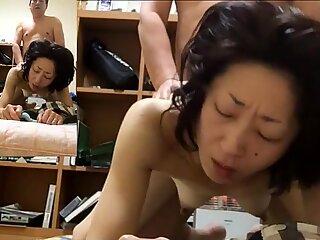 Miyuki panting with a nipple attack