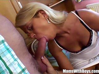 Tight Bodied Blonde Stepmom Spreading For Stepson