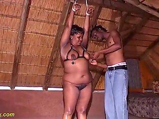 fat african moms first brutal fetish lesson