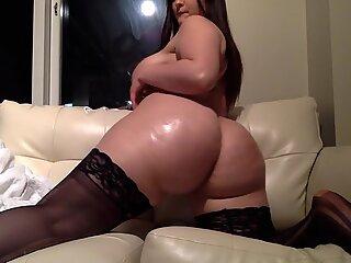 Chubby Cam Girl Fucks Her Dildo Hard - Bella Monroe