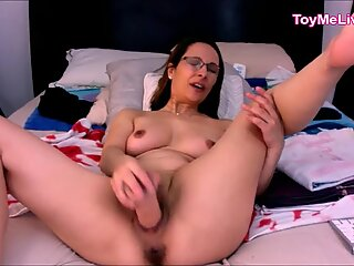 Old Perverted Mom With Glasses Dirty Talk with Toy Live