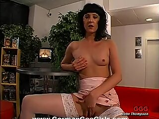 Asian gal likes getting loads of pearl necklace
